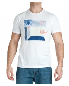 T-shirt Lee BOTANICAL PRINT TEE L61I Bright White