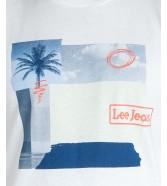 Lee BOTANICAL PRINT TEE L61I Bright White