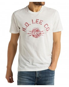 Lee STENCIL TEE L61U White Canvas