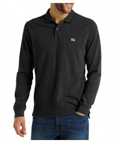 Lee PIQUE POLO LS L61V Dark Grey Mele