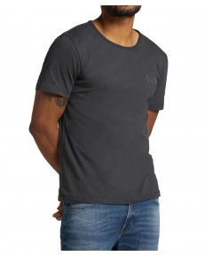 Lee SS EMBRO LOGO TEE L61Z Washed Black