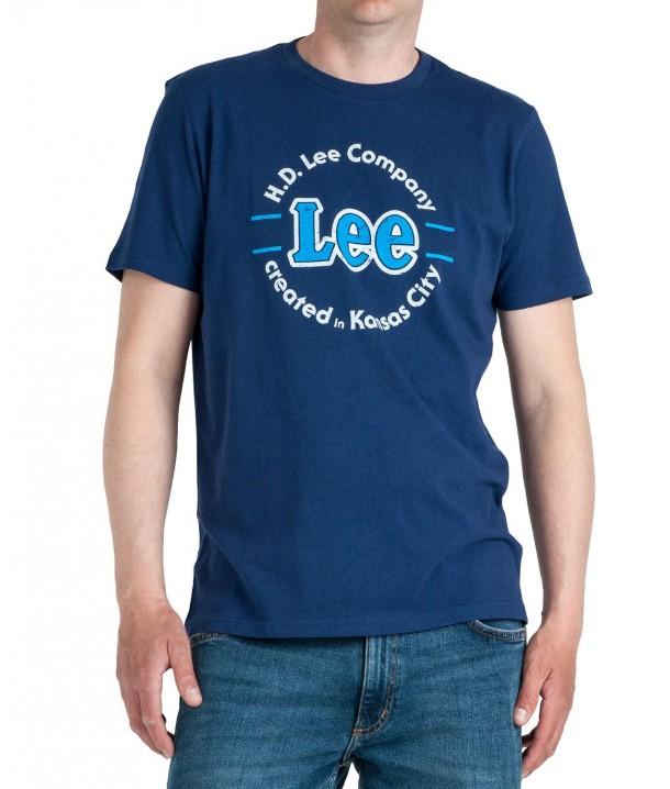 Lee KANSAS CIRCLE TEE L62C Blueprint