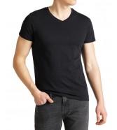 Lee TWIN PACK V NECK TEE L62E Black/White