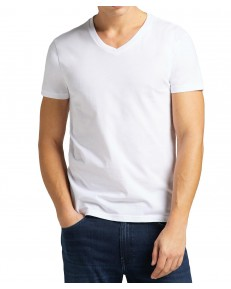 Lee TWIN PACK V NECK TEE L62E White