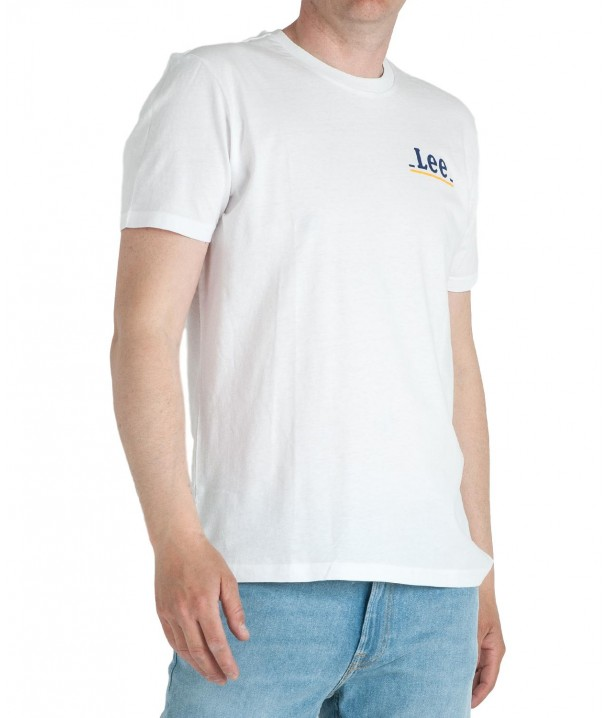 Lee SMALL LOGO TEE L62G Bright White