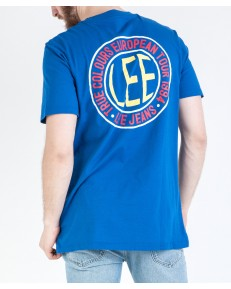 Lee LOGO POCKET TEE L62J Indigo Flash
