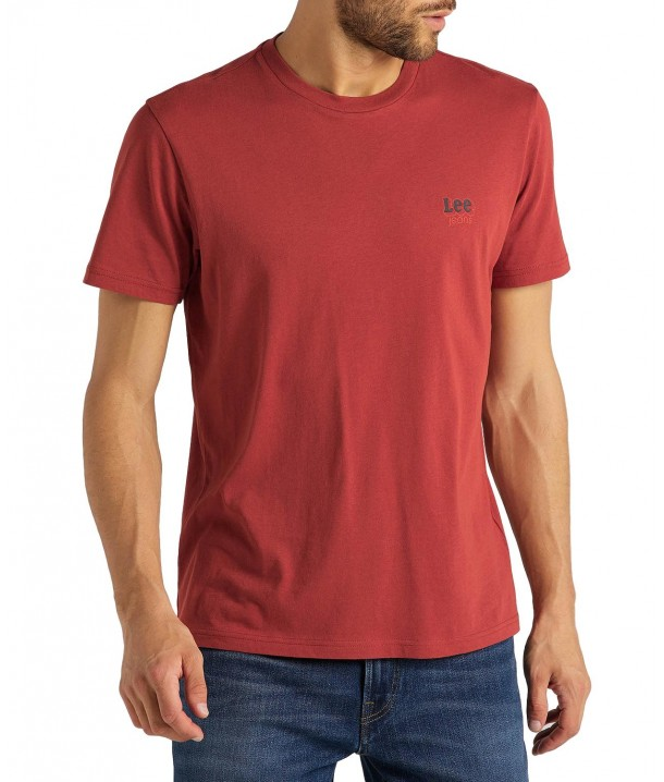 Lee SMALL LOGO TEE L62L Red Orche