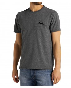 Lee SS TONAL FLOCK TEE L62S Dark Grey Mele
