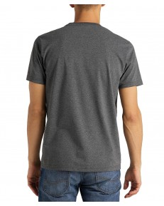 T-shirt Lee SS TONAL FLOCK TEE L62S Dark Grey Mele
