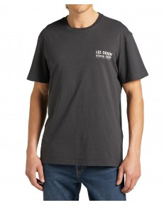 T-shirt Lee GRAPHIC TEE L63B Washed Black