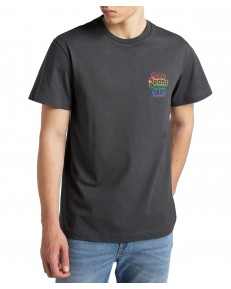Lee SS PRIDE TEE CHEST GRAP L63G Washed Black