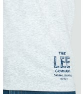Lee BRANDED TEE L63K Sharp Grey Mele