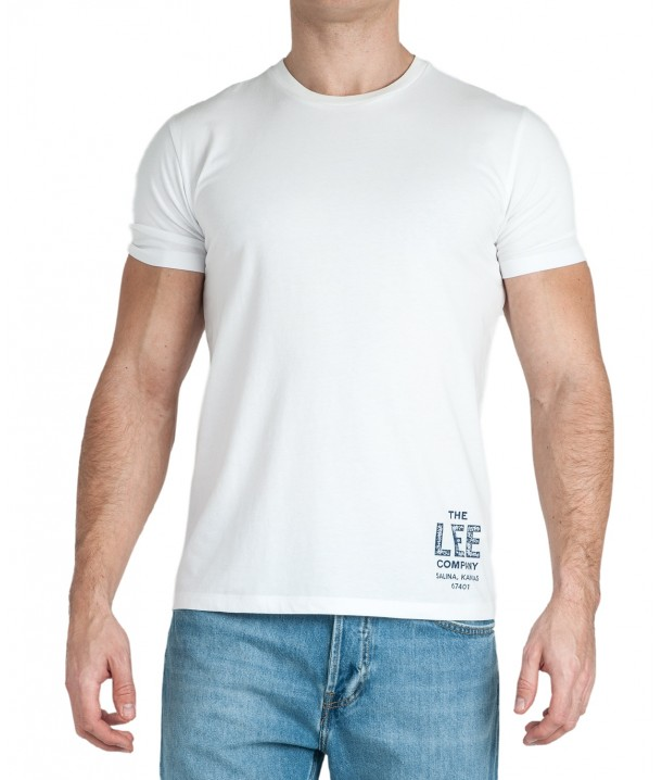 Lee BRANDED TEE L63K Bright White L63KFQLJ