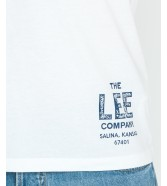 Lee BRANDED TEE L63K Bright White