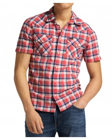 Koszula Lee SS WESTERN SHIRT L640 Aurora Red