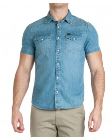 Lee SS WESTERN SHIRT L640 Frost Blue