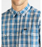 Lee SS WESTERN SHIRT L641 Dipped Blue