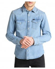 Lee WESTERN SHIRT L643 Frost Blue