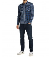 Lee WESTERN SHIRT L644 Washed Blue