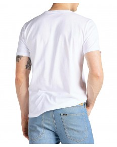 Lee CHEST LOGO TEE L64R Bright White