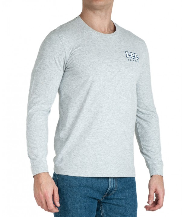 Lee LS CHEST LOGO TEE L64S Sharp Grey Mele L64SFE03