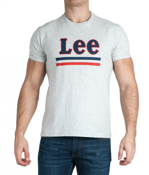 Lee STRIPE TEE L64V Sharp Grey Mele L64VFQ03