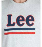 Lee STRIPE TEE L64V Sharp Grey Mele