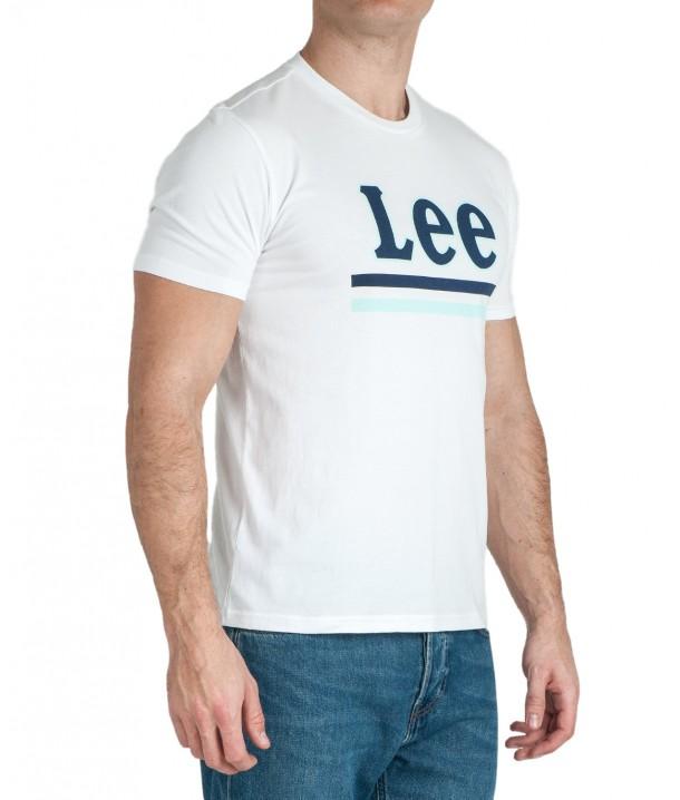 Lee STRIPE TEE L64V Bright White