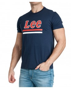 Lee STRIPE TEE L64V Dark Navy