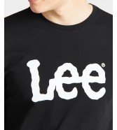 Lee WOBBLY LOGO TEE L65Q Black