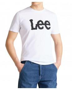 Lee WOBBLY LOGO TEE L65Q White