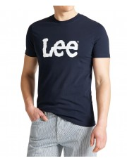 Lee WOBBLY LOGO TEE L65Q Navy Drop