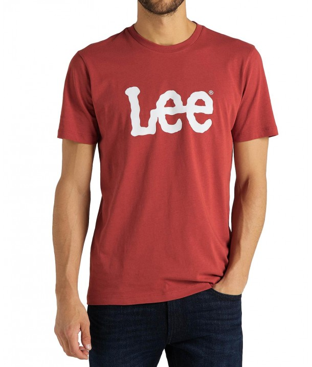Lee WOBBLY LOGO TEE L65Q Red Ochre