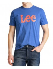 Lee WOBBLY LOGO TEE L65Q Summer Blue