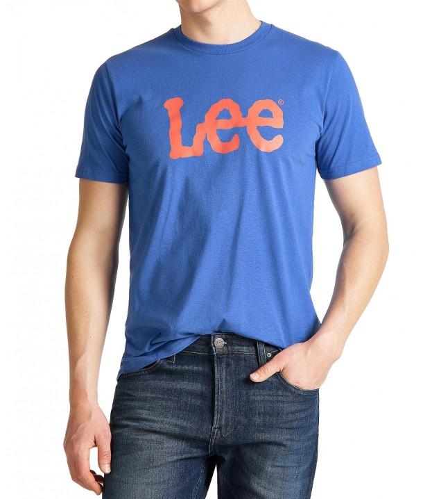 Lee WOBBLY LOGO TEE L65Q Summer Blue