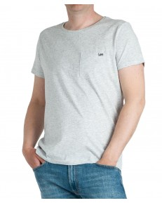 T-shirt Lee POCKET TEE L65Y Sharp Grey Mele
