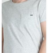Lee POCKET TEE L65Y Sharp Grey Mele