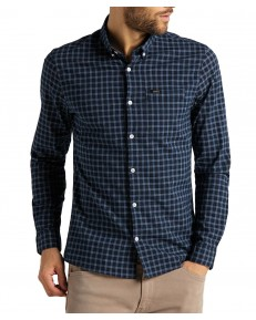 Lee SLIM BUTTON DOWN SHIRT L66X Sky Captain