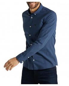 Lee SLIM BUTTON DOWN SHIRT L66X Navy