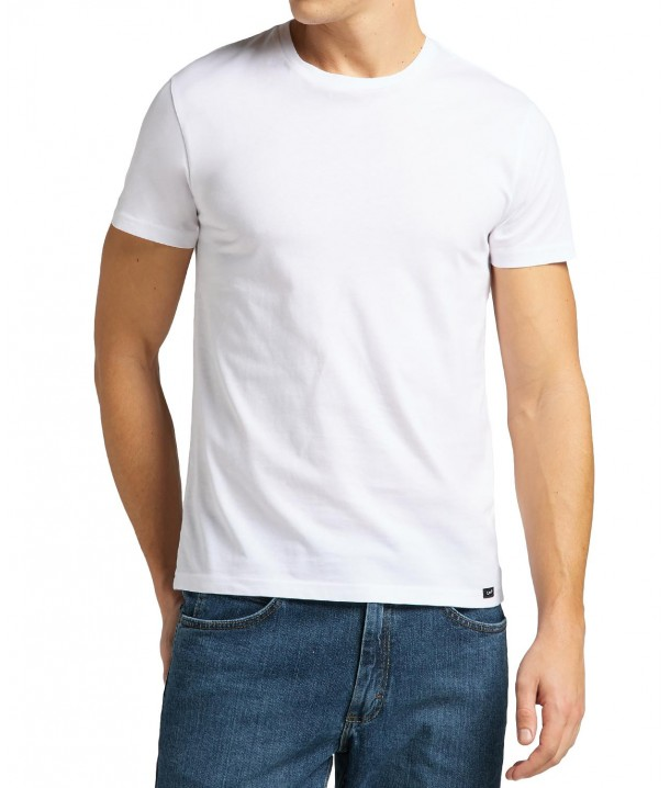 T-shirt Lee TWIN PACK CREW L680 White