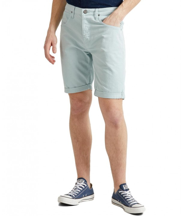 Lee 5 Pocket Short L73E Washed Blue