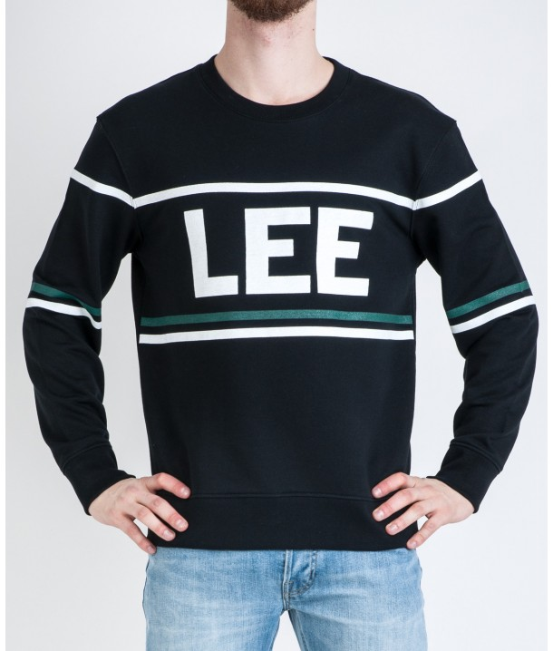 Lee Blouse 90´S LOGO CREW L80A Black L80AQV01