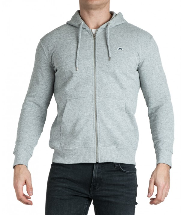 Lee BASIC ZIP THROUGH HOODIE L80K Grey Mele L80KSPMP