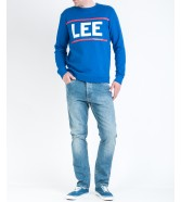 Lee CREW SWEAT L80Q Indigo Flash