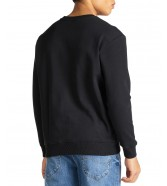 Lee BASIC CREW LOGO SWS L80X Black