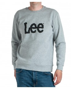 Lee BASIC CREW LOGO SWS L80X Grey Mele