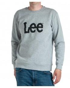 Bluza Lee BASIC CREW LOGO SWS L80X Grey Mele