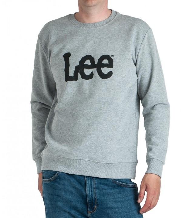 Lee BASIC CREW LOGO SWS L80X Grey Mele