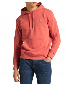 Bluza Lee PLAIN HOODIE L80Y Washed Red