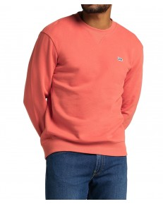 Bluza Lee PLAIN CREW SWS L81I Washed Red